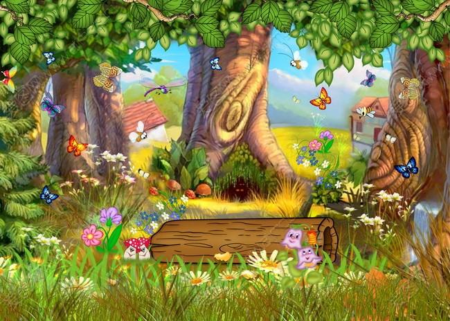 分层素材 美丽风景与音乐psd素材 鲜花特写psd素材 水源森林风景图片图片