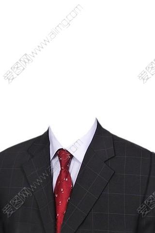 白衬衫红领带证件照-男士证件照服装psd分层素材 设计元素psd素材