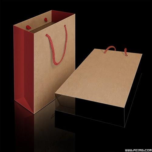 纸手提袋设计原稿psd分层素材图片