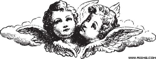 天使与翅膀矢量素材集