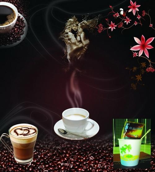 关键字: 咖啡咖啡豆咖啡杯花朵花瓣画册设计海报版式模板psd分层素材