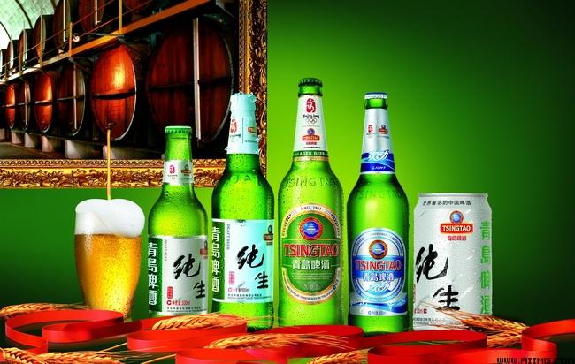 青岛纯生啤酒海报psd分层素材