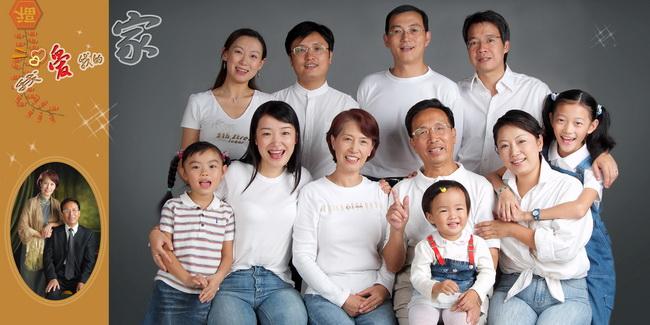 海边风景家庭人物psd素材  关键字: 全家福男女老少一家人人物