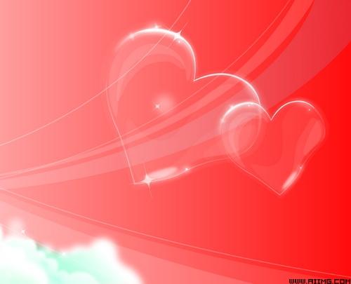 红色心型花纹背景素材矢量图 红色心型花纹背景素
