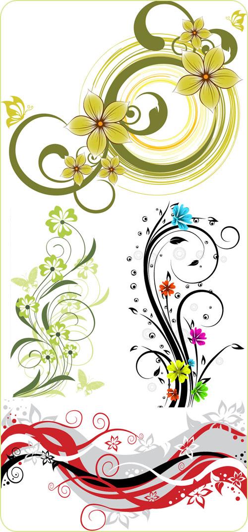 复古风格乐器与花纹元素矢量素材 120张中国传统花纹矢量素材 5款欧式