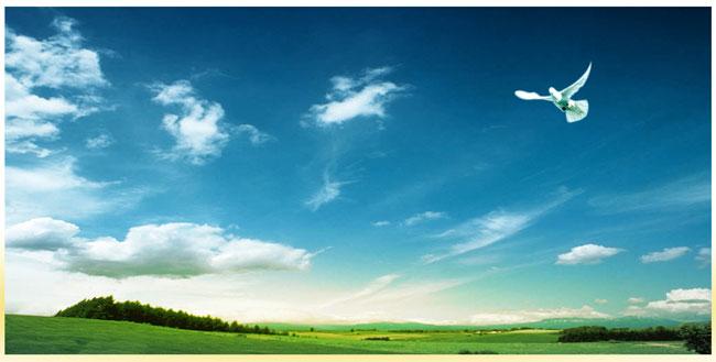 蓝天草原风景图片 - 爱图网设计图片素材下载