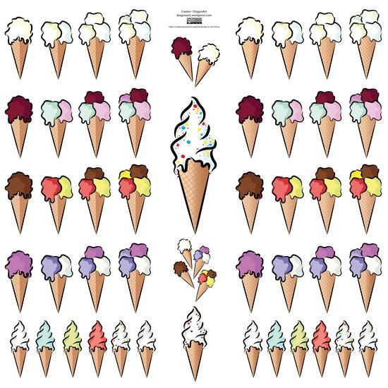 矢量冰淇淋雪糕筒素材