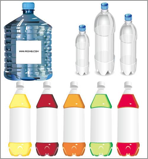 矢量水桶塑料瓶素材
