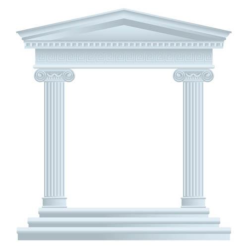 欧式建筑柱子矢量素材