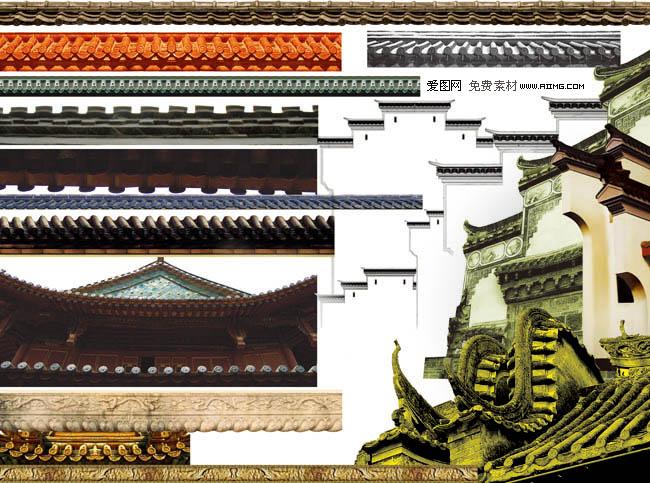 中国风房产元素2 中国风房产元素1 8款吉祥中国结与瓷器psd分层素材图片