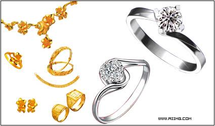 情侣戒指psd分层素材 定婚珠宝psd分层素材 戒子图片素材集 戒子psd素