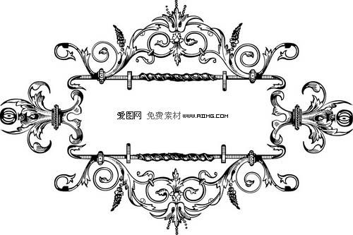 7款欧式装饰花纹花边素材