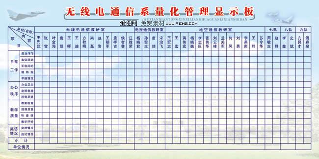 食堂菜单表格模板