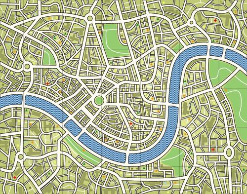 5款矢量地图素材