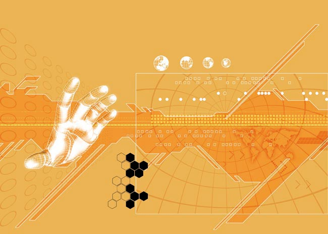 绿色清新环保背景设计psd素材 绚丽科技展板背景设计psd素材 会议背景