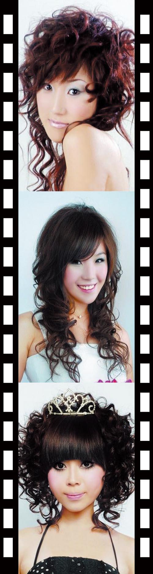 发型造型发型模特理发店用素材