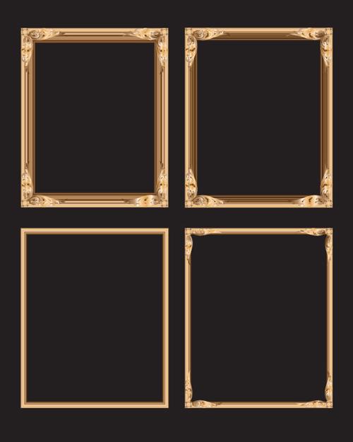 5款欧式花纹边框背景素材