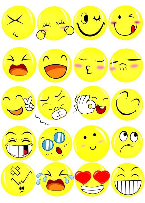 可爱笑脸表情psd素材