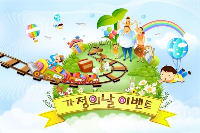 幼儿园卡通气球图片