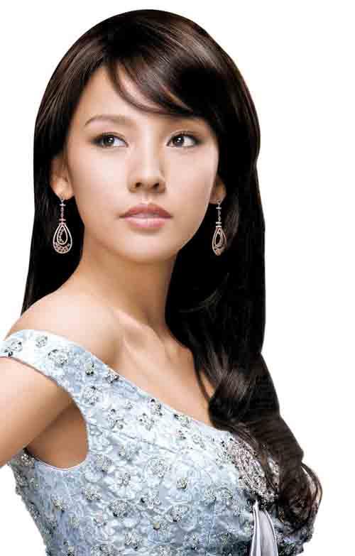 发型模特 造型 美女 广告美女图片