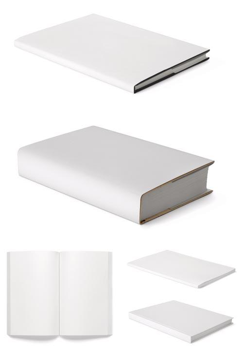 5款空白书本psd分层素材