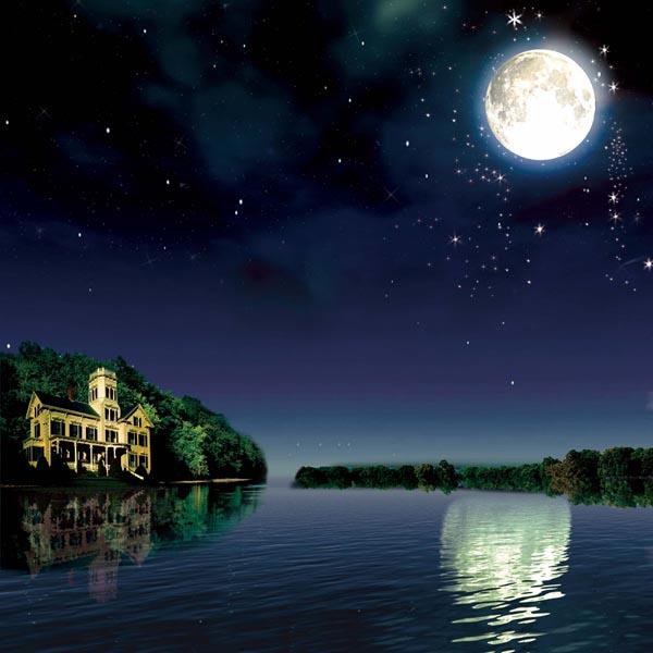 月亮河风景图 - 爱图网设计图片素材下载
