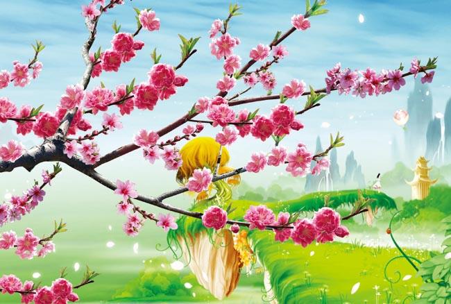 桃花壁纸桌面风景,壁纸大全风景桃花,最美的桃花风景,桃花风景图片