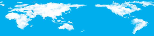 关键词:云世界地图创意图片