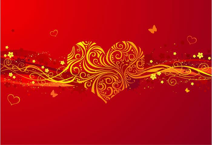 超高清图片 红色心形背景图片 psd_高清图片_图片素材