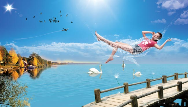 清凉夏天设计 - 爱图网设计图片素材下载
