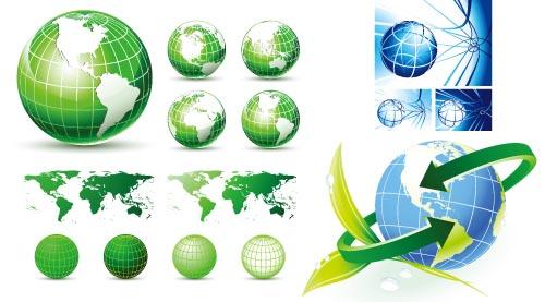 银行折页矢量素材  关键字: 地球矢量地球科技企业素材箭头矢量素材