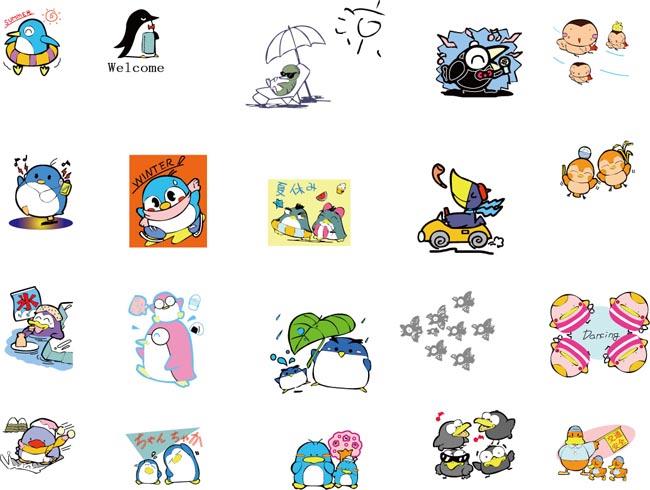 卡通动物图案 - 爱图网设计图片素材下载