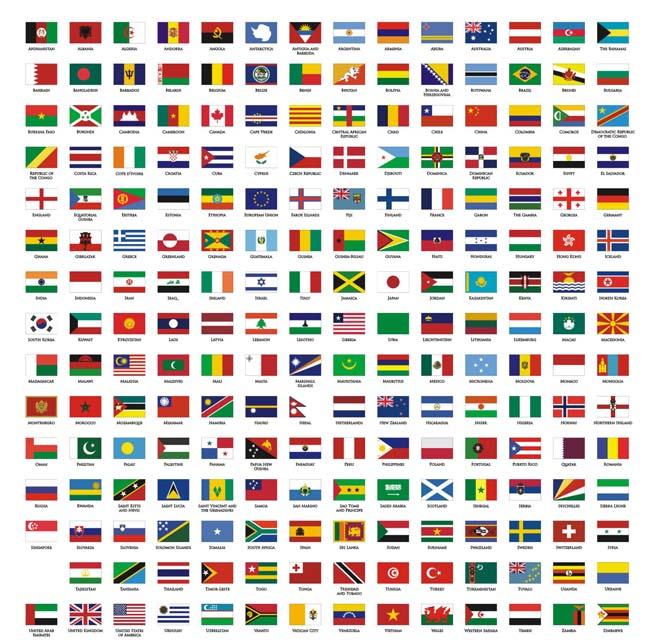 世界国旗_世界各国国旗矢量素材