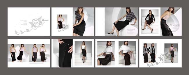 女士服装画册设计图片
