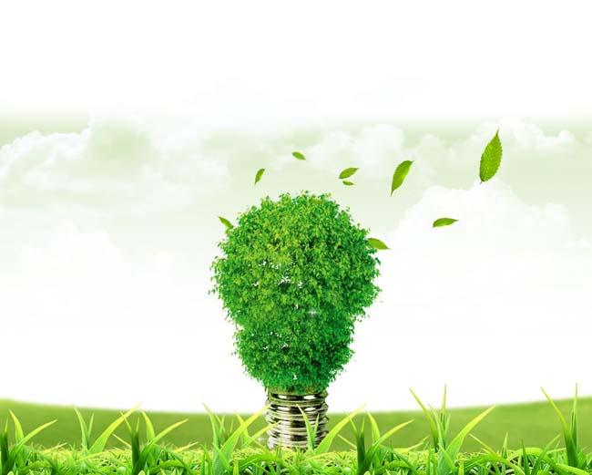 绿色灯泡环保广告素材