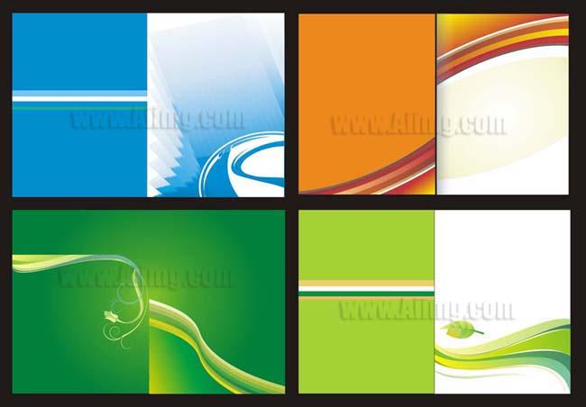简洁线条画册封面 - 爱图网设计图片素材下载