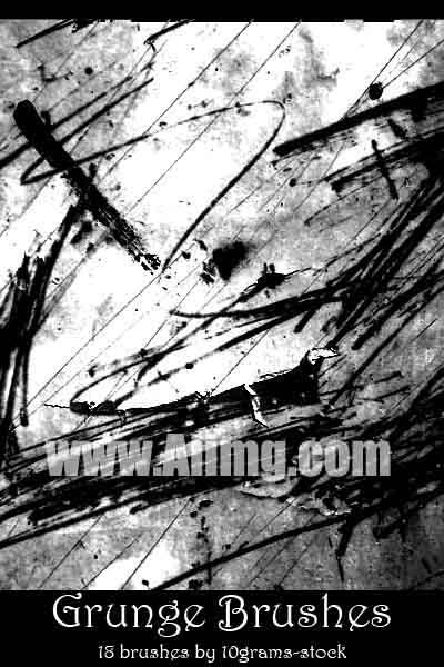 笔划痕迹笔刷 - 爱图网设计图片素材下载