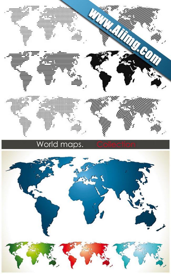 世界地图矢量素材 - 爱图网设计图片素材下载