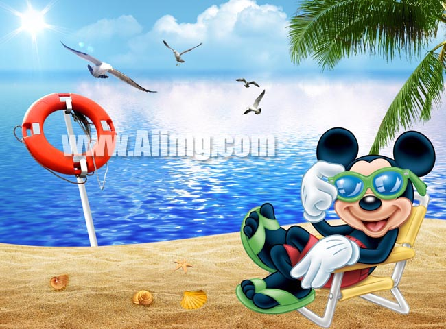 米奇海边生活度假 - 爱图网设计图片素材下载