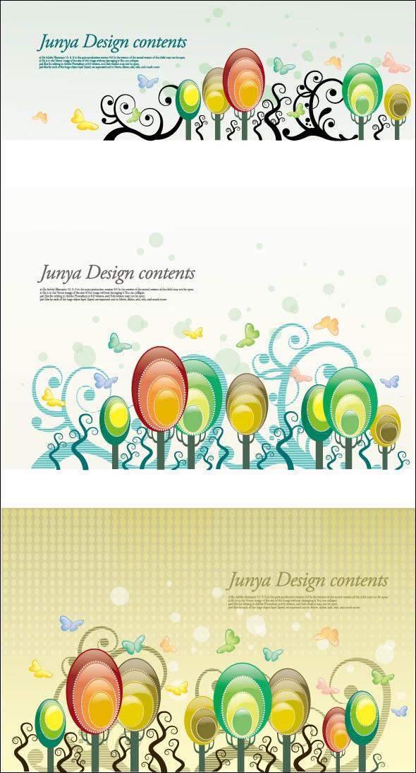 欧式古典装饰花纹边框矢量素材 动感箭头背景矢量素材  关键字: 气球