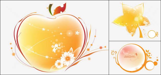 关键字: 设计元素水晶效果质感立体感苹果五角星花边花纹线条免费