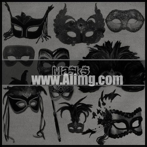 欧式面具笔刷 - 爱图网设计图片素材下载