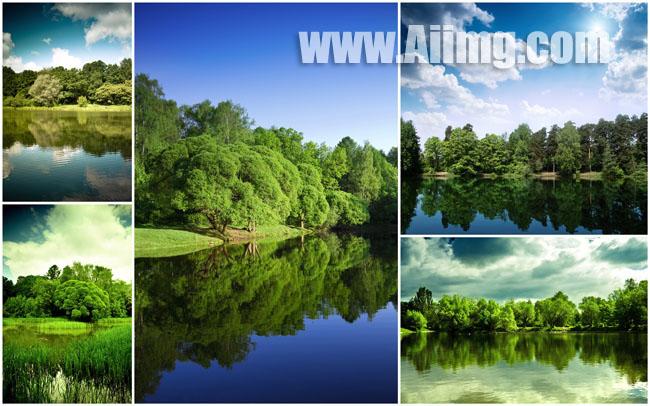 5张美丽湖泊风景高清图片 - 爱图网设计图片素材下载