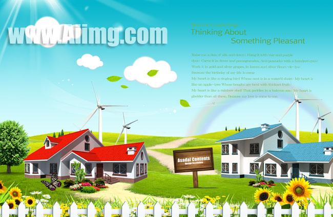 高档地产宣传海报psd素材 欧式风格房产宣传海报设计psd素材 简洁房