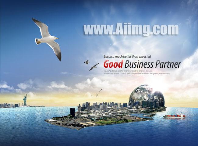岛屿城市商务素材 - 爱图网设计图片素材下载