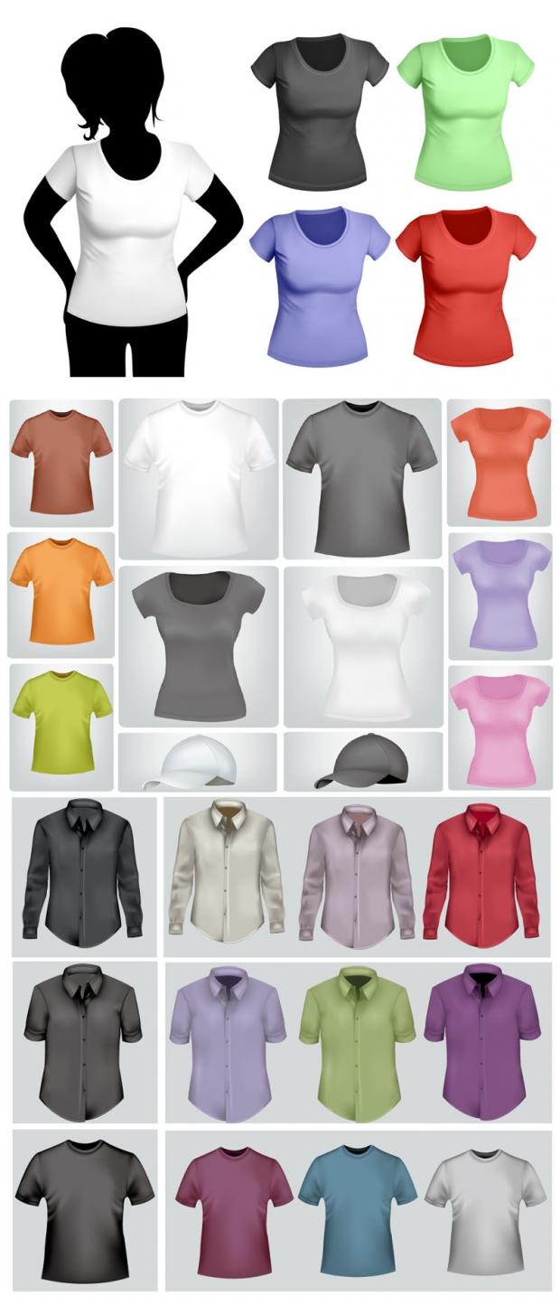 企业服装标识矢量素材
