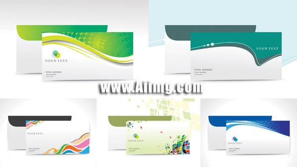 企业vi信封设计矢量素材