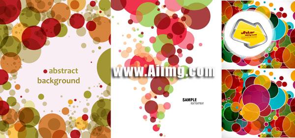 箭头与圆圈图案背景矢量素材 - 爱图网设计图片素材