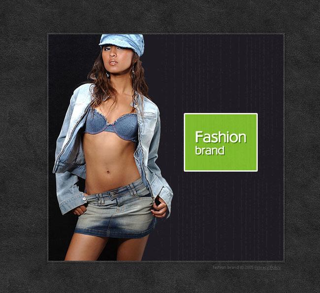个人模特网页模板设计