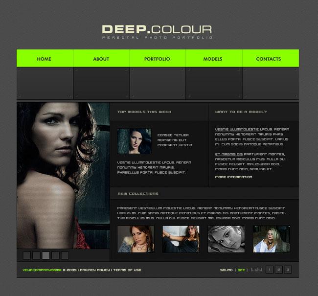 设计-个人网站模板-网页模; 完美女性网站模板设计; 关键词:个人网页